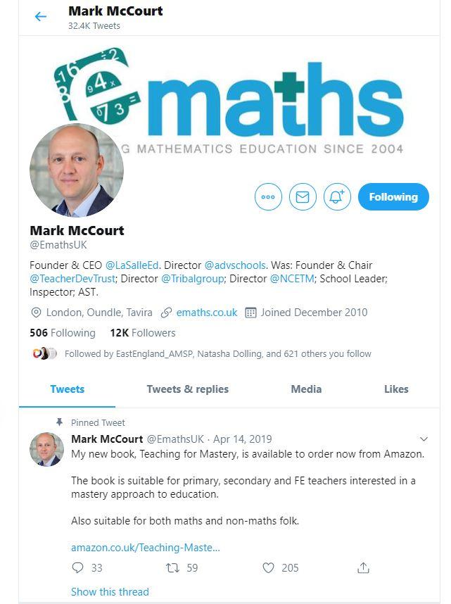 Mark Mccourt - Teaching For Mastery
