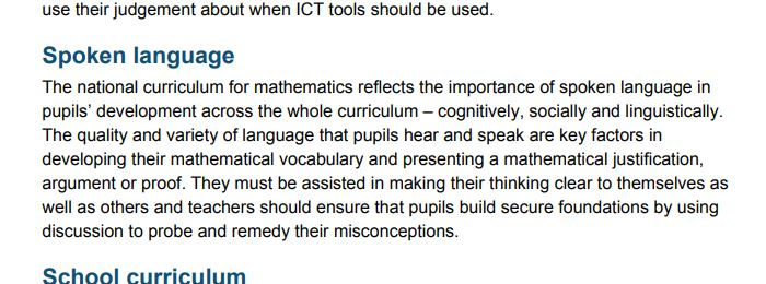 maths terminology national curriculum