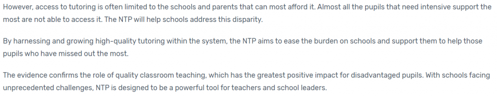 Catch up Premium: A SLT Guide to the government's intervention plan for schools.